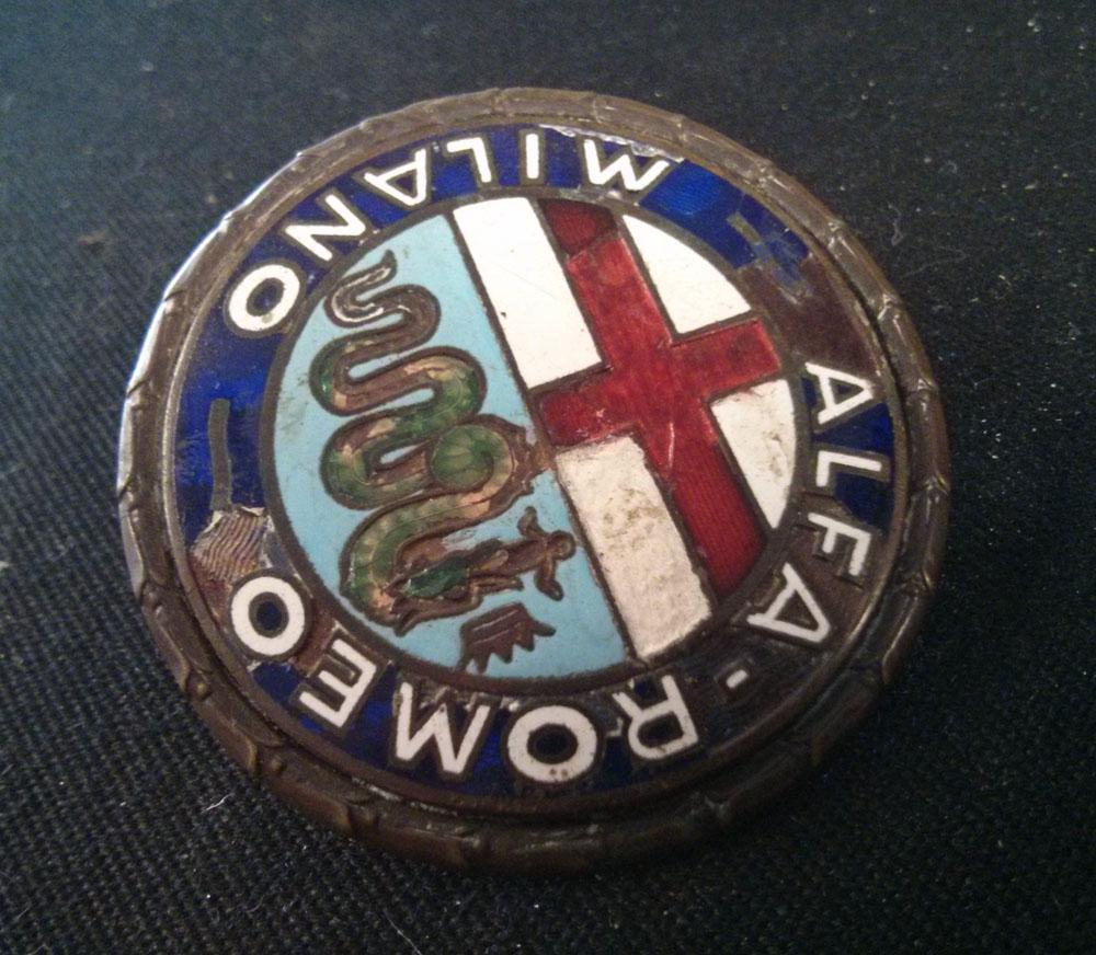 Original Iron Glazed Emblem Badge For Alfa Romeo Giulietta Symbol Logo Originale In Ferro Smaltato Per